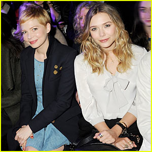 Michelle Williams: Mulberry Front Row with Lizzie Olsen!