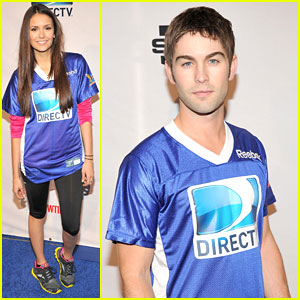 Nina Dobrev & Chace Crawford: Celebrity Beach Bowl!