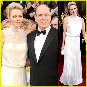 Princess Charlene & Prince Albert - Oscars 2012 Red Carpet