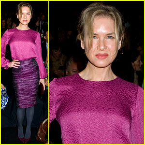 Renee Zellweger: Carolina Herrera Fashion Show!