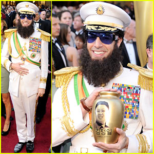 Sacha Baron Cohen Dumps Kim Jong Il's 'Ashes' On Ryan Seacrest