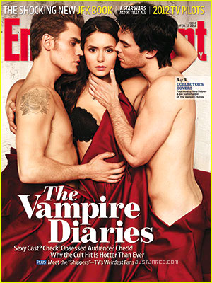 Nina Dobrev, Ian Somerhalder &#038; Paul Wesley Cover 'EW'