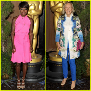 Viola Davis & Glenn Close: Academy Awards Nominations Luncheon