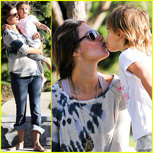 Alessandra Ambrosio & Anja: Playground Kisses!