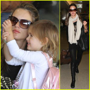 Alessandra Ambrosio: Back In L.A. with Anja