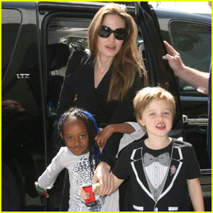 Angelina Jolie: Zahara Rocks Blue Braids!