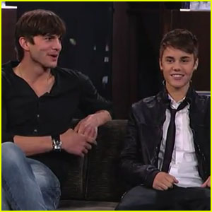 Ashton Kutcher &#038; Justin Bieber: 'Jimmy Kimmel Live'!