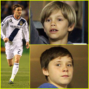 Beckham Boys Cheer On Dad