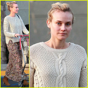 Diane Kruger Grabs Groceries at Gelson's