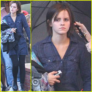 Emma Watson: Hair Extensions on 'Bling Ring' Set