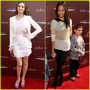 Emmy Rossum &#038; Zoe Saldana: Stuart House Benefit!