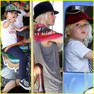 Gwen Stefani: Knott's Berry Farm with Kingston & Zuma!