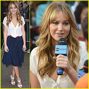 Jennifer Lawrence: 'Good Morning America' Appearance!