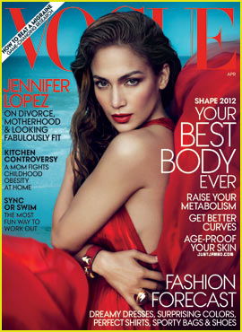 Jennifer Lopez Covers 'Vogue' April 2012