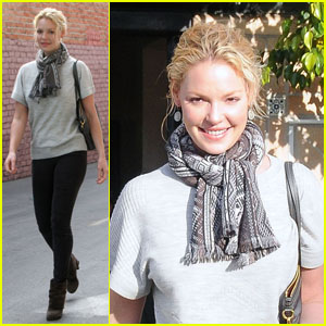 Katherine Heigl: Lunch & A New 'Do!