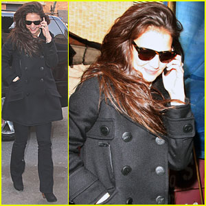 Katie Holmes: Windy Morning in NYC!