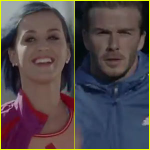 Katy Perry & David Beckham Run For Adidas!