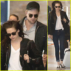 Robert Pattinson & Kristen Stewart: Paris Departure