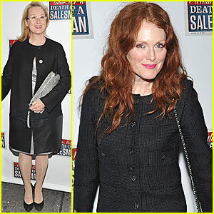 Meryl Streep & Julianne Moore: 'Death of a Salesman' Opening Night!