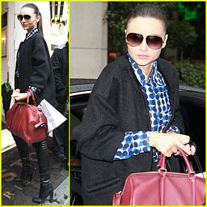 Miranda Kerr: Bristol Hotel After Chanel Show