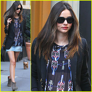 Miranda Kerr: Manhattan Meeting with Frankie!