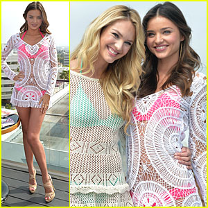 Miranda Kerr: VS Swim Collection Launch with Candice Swanepoel!