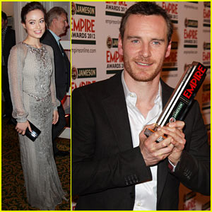 Michael Fassbender & Olivia Wilde: Empire Awards Duo!