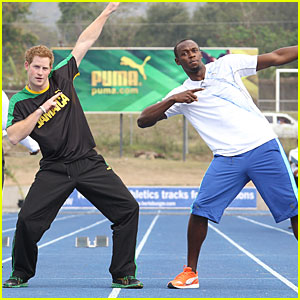 Prince Harry &#038; Usain Bolt Jog in Jamaica