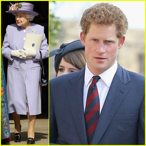 Prince Harry: Church Service With Queen & Royal Family
