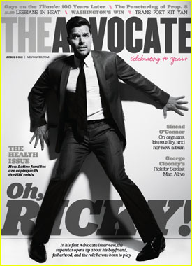 Ricky Martin Covers 'The Advocate' April 2012