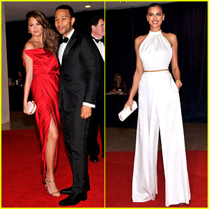 Chrissy Teigen & Irina Shayk - White House Correspondents' Dinner 2012