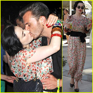 Dita Von Teese: Coachella Kiss with Theo Hutchcraft!