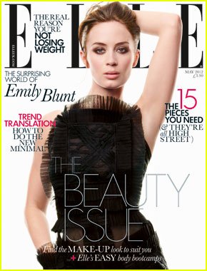 Emily Blunt Covers 'Elle UK' May 2012