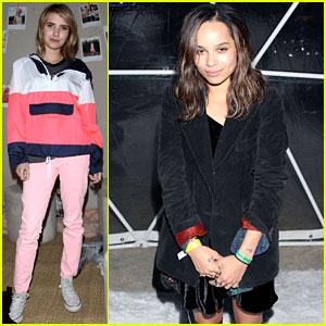 Emma Roberts & Zoe Kravitz: Coachella Parties!