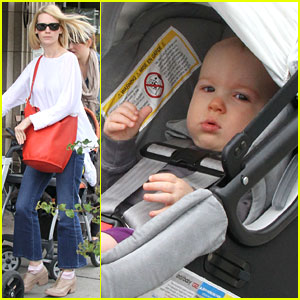January Jones: Lunch with Baby Xander!