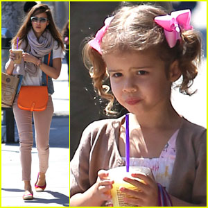 Jessica Alba & Honor: Coffee Shop Stop