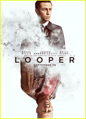Joseph Gordon-Levitt & Bruce Willis: 'Looper' Poster!