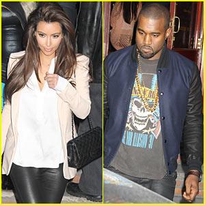 Kim Kardashian & Kanye West: Serafina Lunch!