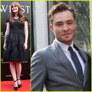 Leighton Meester: Harry Winston Shanghai with Ed Westwick!