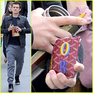 Orlando Bloom: Personalized Goyard Wallet!