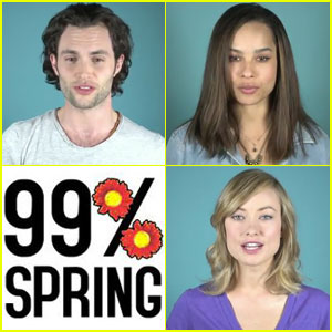 Penn Badgley, Zoe Kravitz & Olivia Wilde: 99% Spring PSA!