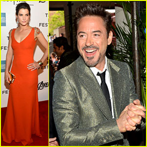 Robert Downey, Jr. & Cobie Smulders: 'Avengers' in NYC!