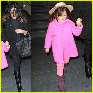 Salma Hayek: Westfield Mall with Valentina!
