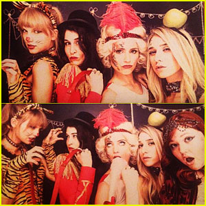 Dianna Agron: Circus Themed Birthday Party with Taylor Swift!