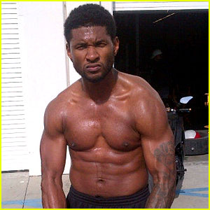 Usher Tweets Buff Shirtless Pics, Not Dead!