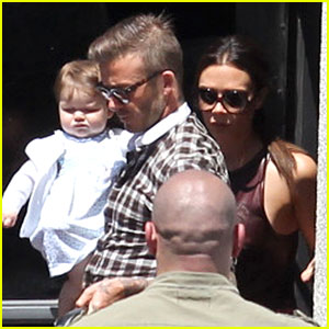 Victoria Beckham Celebrates Birthday with David & Harper!