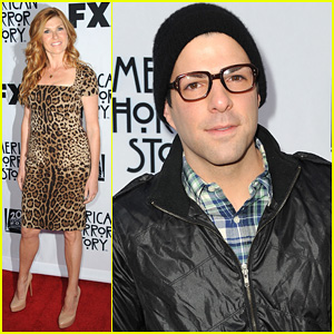 Zachary Quinto & Connie Britton: 'American Horror Story' Screening!
