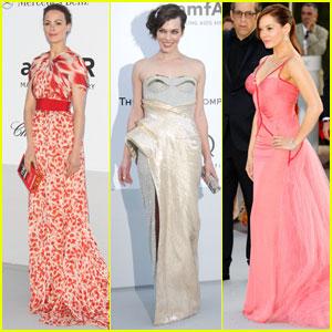 Berenice Bejo & Rose McGowan - amfAR Cannes Gala 2012