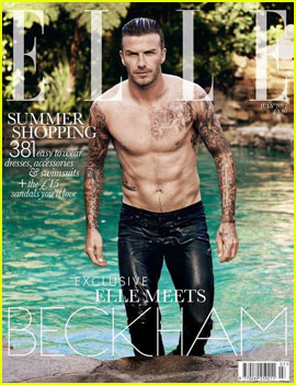 David Beckham Goes Shirtless for 'Elle UK'