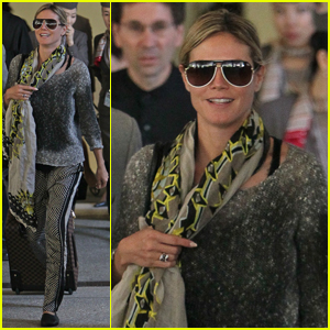 Heidi Klum: Back from Cannes!